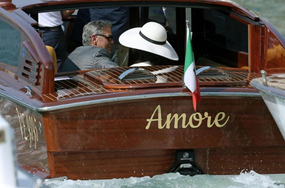 The George Clooney Wedding Affair In Venice Canal Rides Lots Of Amore Italy Magazine