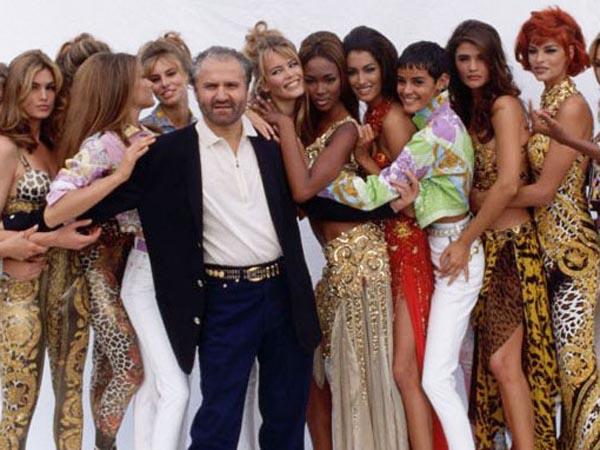Versace with Top Models