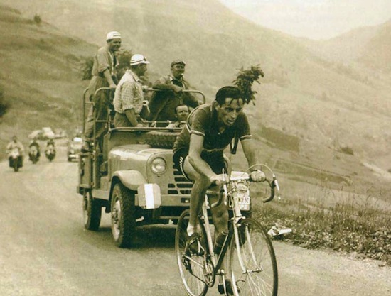 Coppi Leading the Race