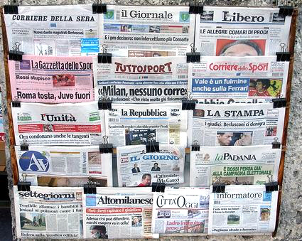 Newspaper Italy